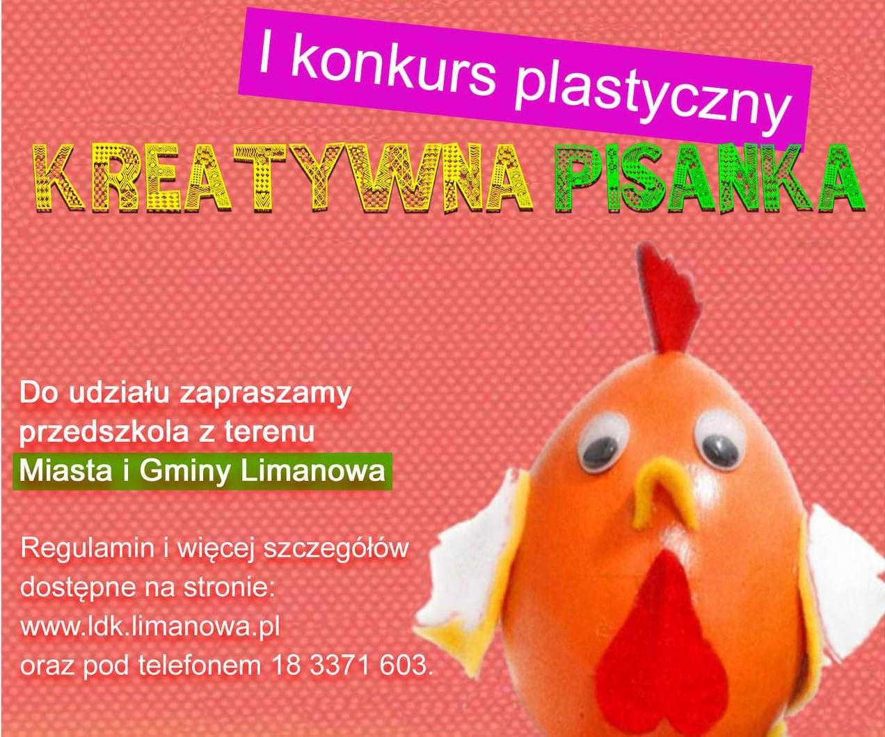 plakat - I konkurs plastyczny kreatywna pisanka