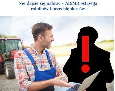 rolnik z osobą podającą sie za pracownika ARiMR