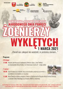 Plakat Narodowego Dnia Pamięci Żołnierzy Wyklętych