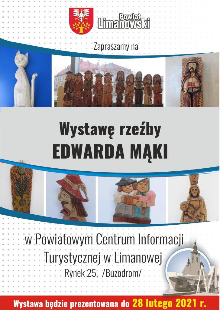 Plakat wystawa Edwarda Mąki