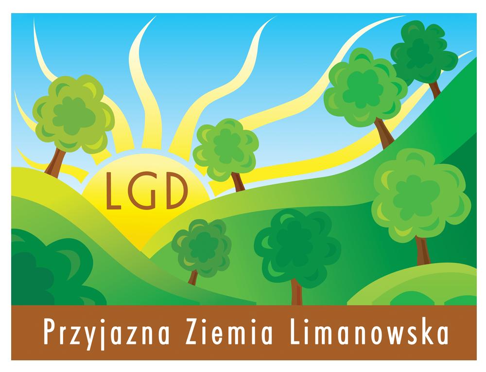 plakat z logo LGD Przyjazna Ziemia Limanowska