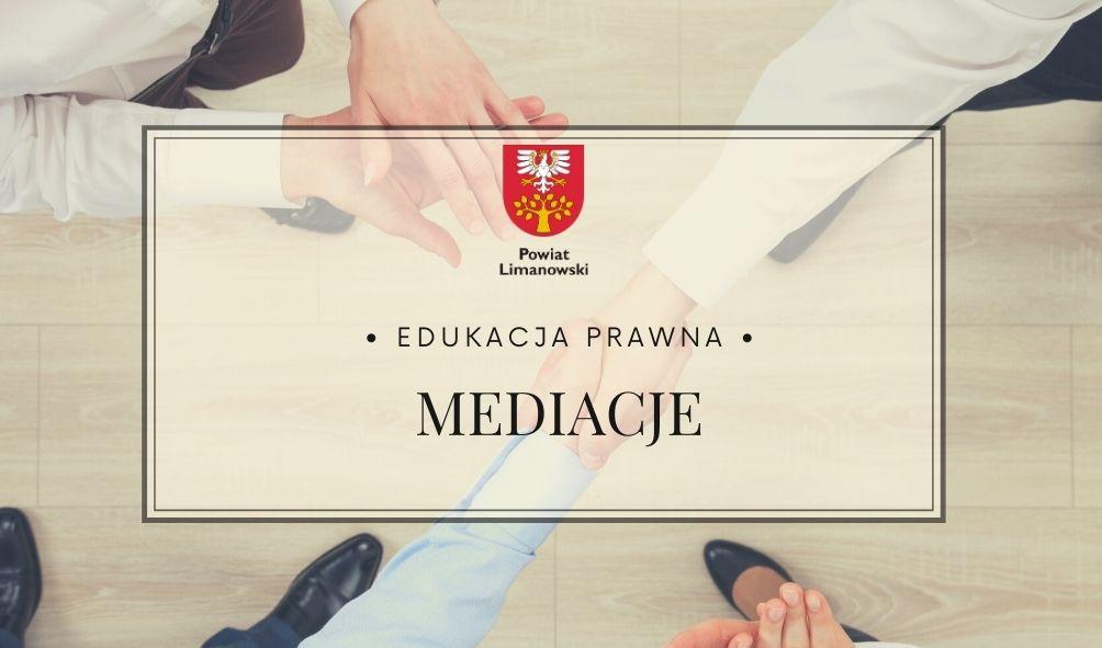 Edukacja prawna - mediacja. Dwie ręce w uścicku dłoni.