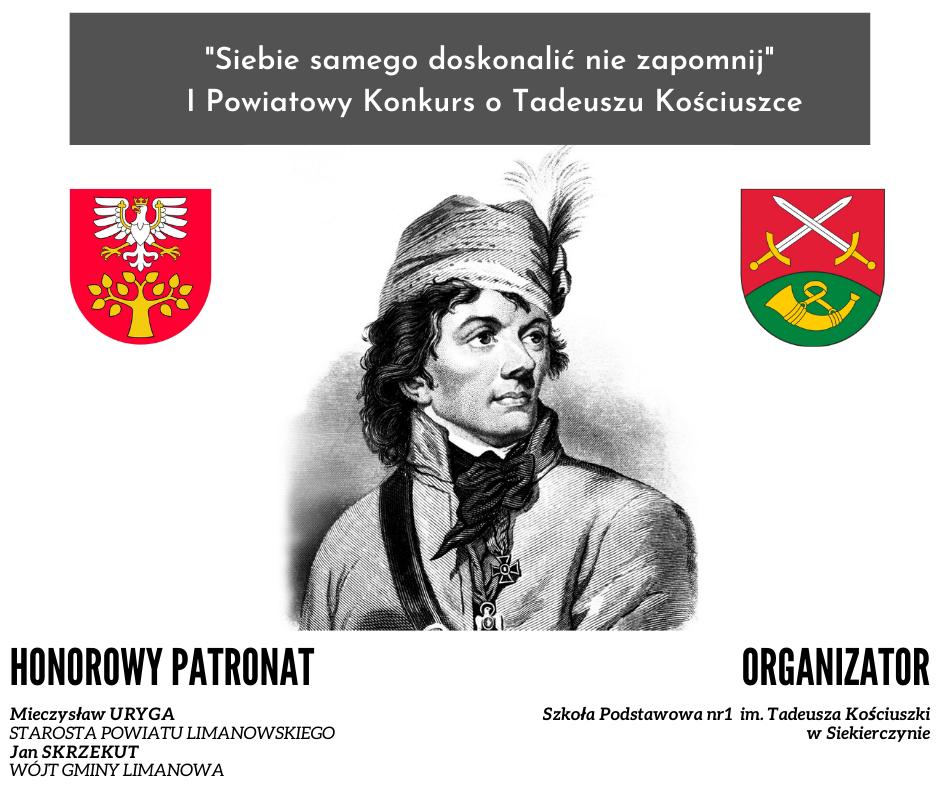 grafika - I Powiatowy Konkurs o Tadeuszu Kościuszce