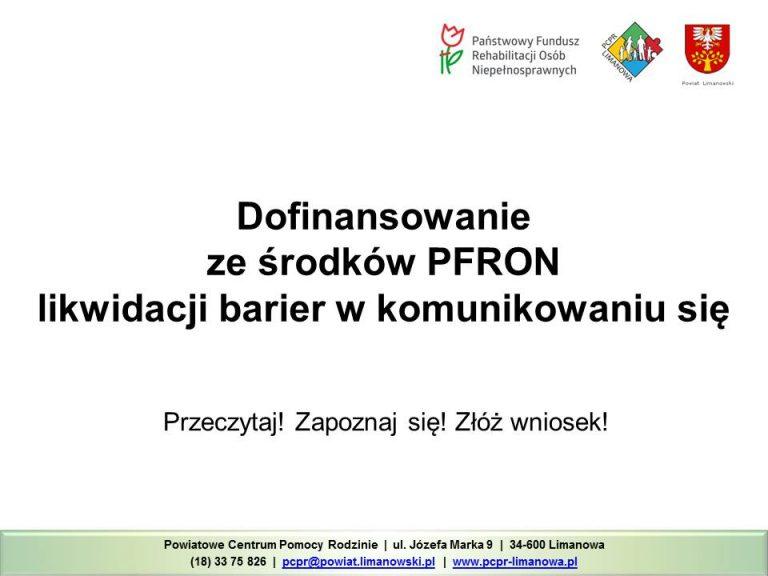 Dofinansowanie PFRON - likfidacja barier w komunikowaniu się