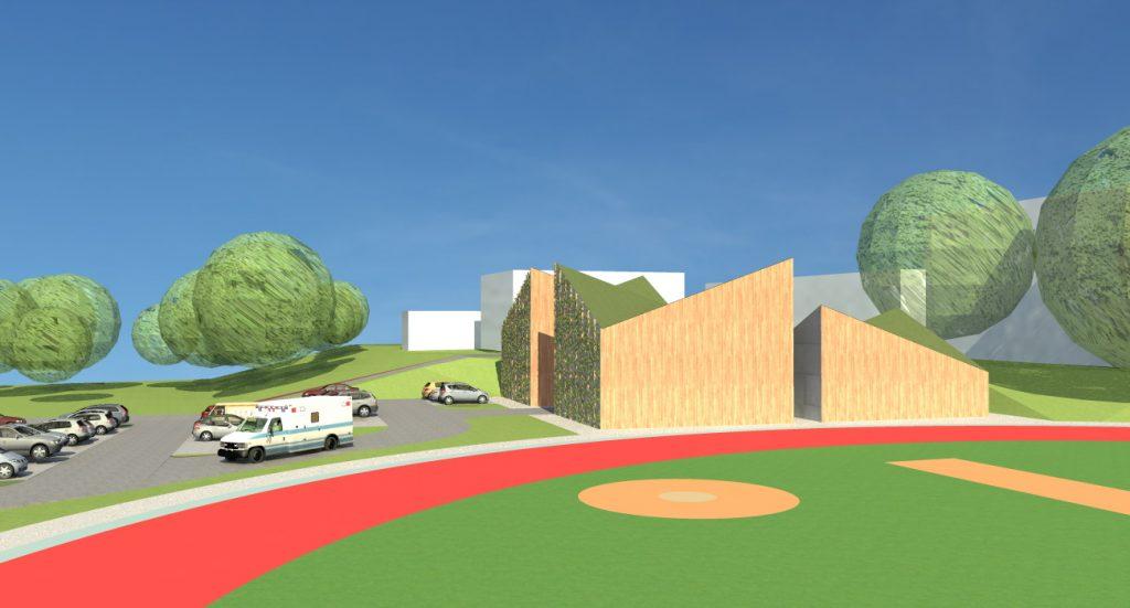 Projekt 4. Widok na budynki socjalne