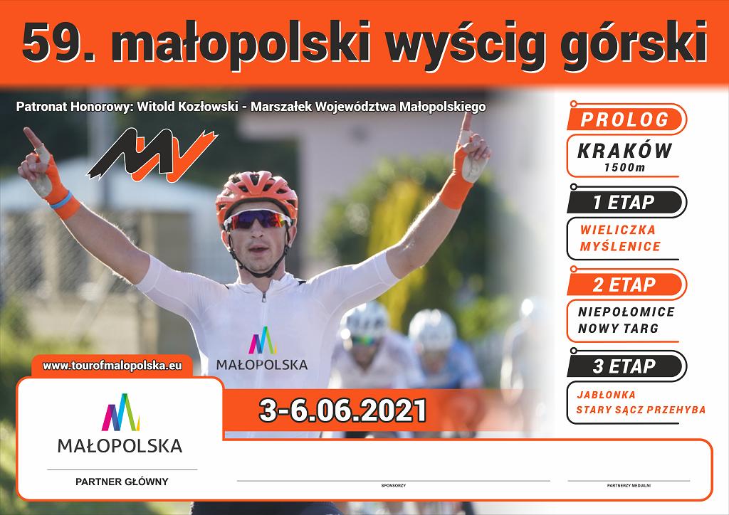 59. małopolski wyścig górski 2021 plakat informacyjny
