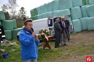 Wicestarosta Limanowski Agata Zięba podczas przemówienia na polanie