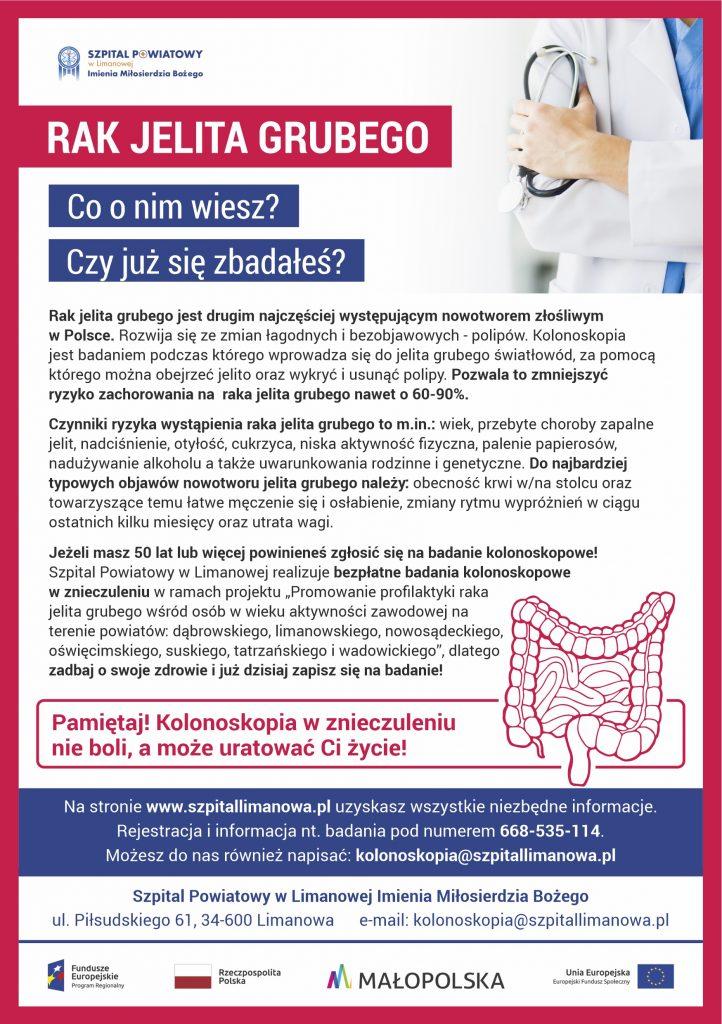 Plakat bezpłtna kolanoskopia