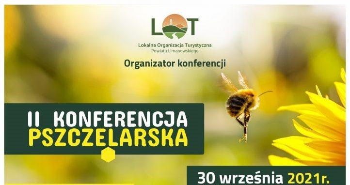II konderencja pszczelarska 30 wrzesnia 2021 - baner informacyjjny