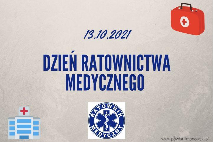 13.10. 2021 Dzień Ratownictwa Medycznego - plakat informujący